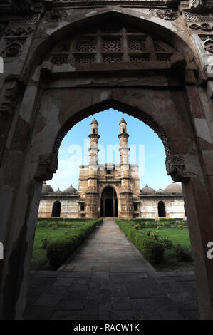 Jami Masjid, built in 1513 taking 25 years to construct, part of UNESCO World Heritage Site, Champaner, Gujarat, India, Asia - Stock Photo