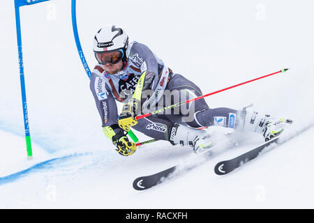 Alta Badia, Italy 16 December 2018.  KILDE Aleksander Aamodt (Nor) competing in the Audi Fis Alpine Skiing World Cup Men's Giant Slalom - Stock Photo