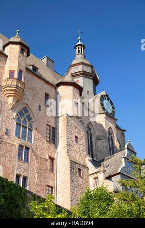 Landgrafenschloss (Marburg Castle), Marburg, Hesse, Germany, Europe - Stock Photo