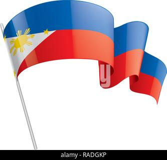 Philippines flag, vector illustration on a white background - Stock Photo
