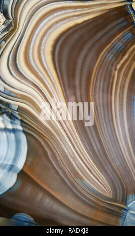 Backgrounds and textures: surface of colorful decorative stone slab, natural abstract lines - Stock Photo