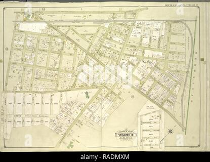 Queens, Vol. 1, Double Page Plate No. 16, Part of Ward 4, Jamaica, Map bounded by Jericho Turnpike, Hempstead and reimagined - Stock Photo
