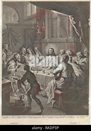 Last Supper, Michel Natalis, Martinus van den Ende. Reimagined by Gibon. Classic art with a modern twist reimagined - Stock Photo
