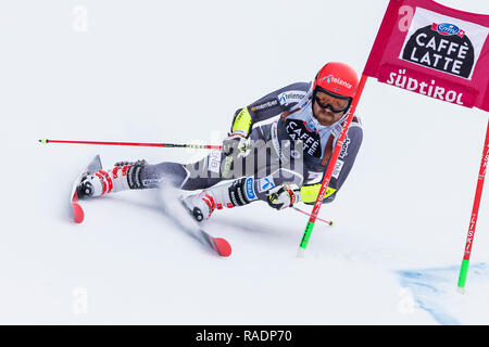Alta Badia, Italy 16 December 2018.  NESTVOLD-HAUGEN Leif Kristian (Fra) competing in the Audi Fis Alpine Skiing World Cup Men's Giant Slalom - Stock Photo