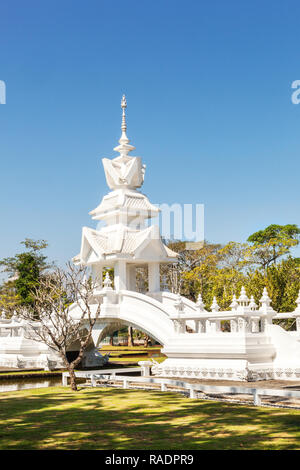 Wat Rong Khun, known as the White Temple. Chiang Rai, Thailand, 23.01.2018 - Stock Photo