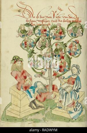 The Tree of Jesse, Follower of Hans Schilling (German, active 1459 - 1467), from the Workshop of Diebold Lauber ( reimagined - Stock Photo