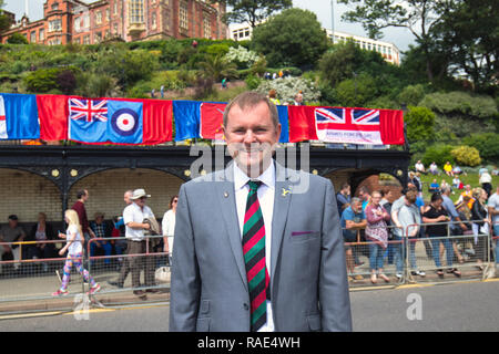 Chief Executive Sir Gary Verity of Welcome To Yorkshire attending Armed Forces Day in Scarborough,North Yorkshire - Stock Photo
