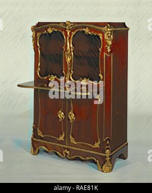Pair of Cabinets, Bernard II van Risenburgh (French, after 1696 - about 1766, master before 1730), Paris, France reimagined - Stock Photo