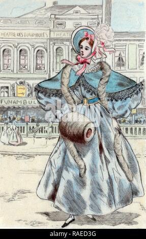1834, Women's fashion in nineteenth-century Paris, Boutet, Henri (1851-1919), (Artist), 190. Reimagined - Stock Photo