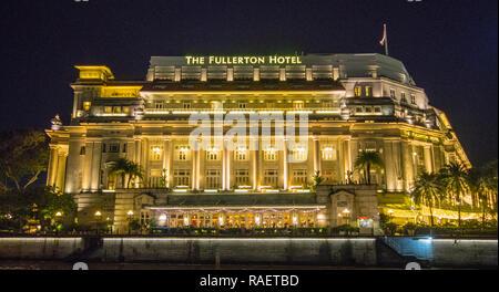 Fullerton Hotel, Singapore - Stock Photo