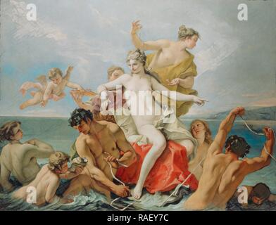 Triumph of the Marine Venus, Sebastiano Ricci (Italian, 1659 - 1734), about 1713, Oil on canvas, 160 x 210.8 cm (63 x reimagined - Stock Photo