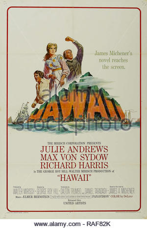 Hawaii (United Artists, 1966), Poster  Julie Andrews, Max Von Sydow  File Reference # 33636_818THA - Stock Photo