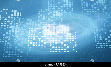 Blue business network template, computer generated abstract background, 3D rendering