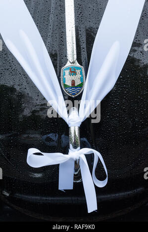 Classic vw beetle wedding car - Stock Photo