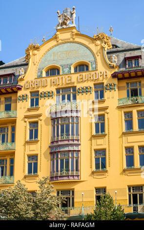 grand hotel europa prague czech republic on vaclavske namesti stock photo 59952624 alamy. Black Bedroom Furniture Sets. Home Design Ideas