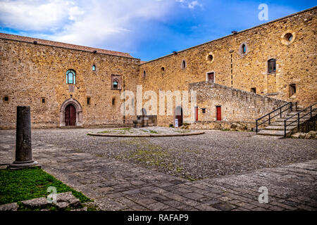 Italy Basilicata Castel Lagopesole Castle - Stock Photo