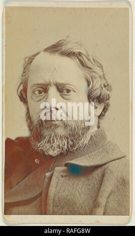 John Frederick Kensett (1818 - 1872), Sarony & Co, about 1870, Albumen silver print. Reimagined by Gibon. Classic art reimagined - Stock Photo