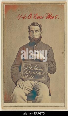 J.W. Adams, F 2 N.T.H.A. 20757 d, Civil War victim, American, 1862 - 1872, Albumen silver print. Reimagined - Stock Photo