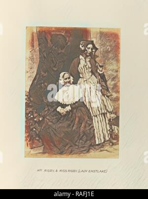 Mrs. Rigby and Miss Rigby, (Lady Eastlake), Hill & Adamson (Scottish, active 1843 - 1848), Scotland, 1843 - 1848 reimagined - Stock Photo