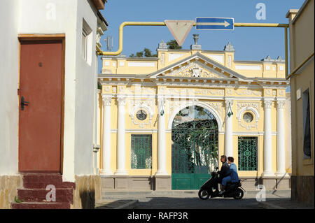 Main gate built in 1900 to complex of Eupatorian Kenassas built 1804 to 1814 on Karaimskaya street in Yevpatoria, Ukraine. September 30th 2008, the sp - Stock Photo