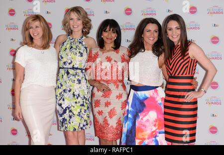 Various celebrities at the De Vere Grand Connaught Rooms in Covent Garden during Lorraine Kelly's High Street Fashion Awards  Featuring: Kate Garraway, Charlotte Hawkins, Ranvir Singh, Susanna Reid, Laura Tobin Where: London, United Kingdom When: 19 May 2015 Credit: Steve Finn/WENN - Stock Photo