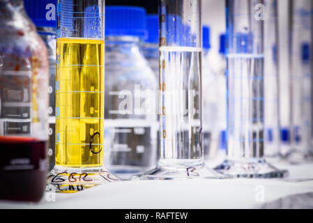 Chemistry equipment for storing chemicals - Stock Photo