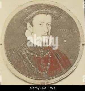 Painted portrait of Henry Howard, Earl of Surrey, about 1870 - 1890, Albumen silver print. Reimagined - Stock Photo