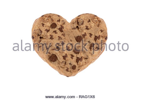 Images of cookies in various different textures. cookie texture for advertisement.Homemade cookie with heart shape and chocolate drops. - Stock Photo