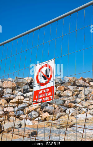 No acces for unauthorised persons - Stock Photo