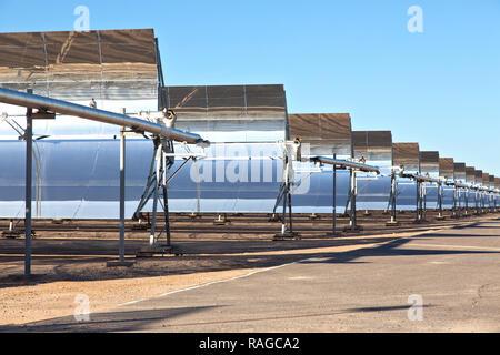 Solana Generating Station,  parabolic trough plant,  solar power, Arizona, - Stock Photo