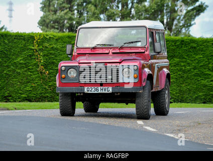 Land Rover Defender 90 iconic British 4x4 off roader - Stock Photo