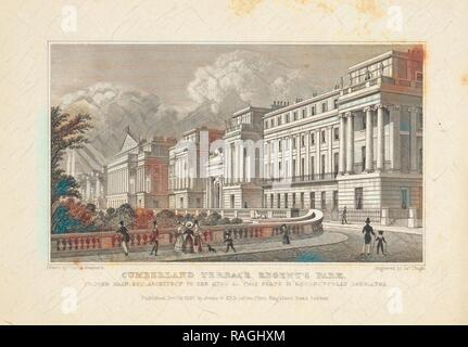 Regent's Park, Cumberland Terrace, Regent's Park, Metropolitan improvements: or, London in the nineteenth century reimagined - Stock Photo