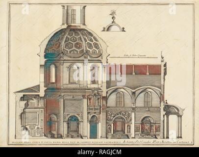 Spaccato della Chiesa di Santa Maria della Pace de Canonici Regolari Lateranensi, Stvdio d'architettvra civile sopra reimagined - Stock Photo
