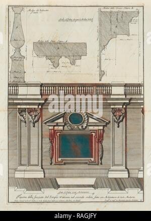 fatta con architettura di Carlo Maderno, Finestra della facciata del Tempio Vaticano nel secondo ordine, fatta con reimagined - Stock Photo