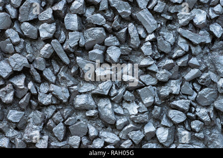 Grey rocks texture. Metallic silver stones background. - Stock Photo