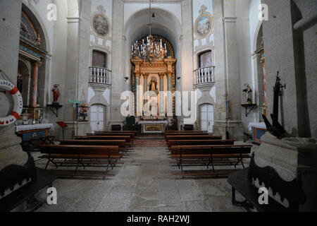 Interior shot of a church in Tui, Galicia - Spain - Stock Photo