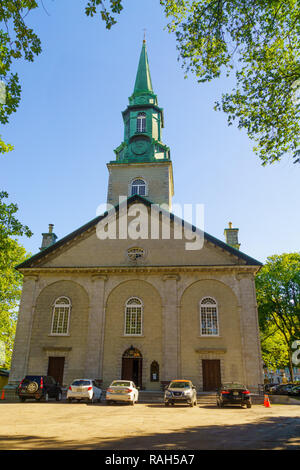 View of the Holy Trinity Cathedral, in Quebec City, Quebec, Canada - Stock Photo