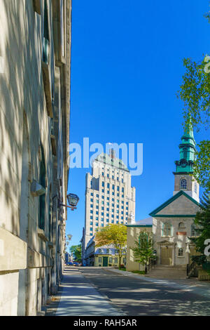 View of the Presbyterian St-Andrews church, in Quebec City, Quebec, Canada - Stock Photo