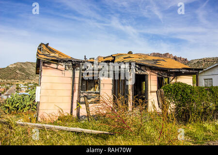 Results Of Small Home Fire Damage - Stock Photo