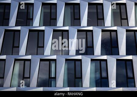 Architecture, house facade, Dorotheen Quartier, DOQU, architect Behnisch, Stuttgart, Baden-Württemberg, Germany - Stock Photo