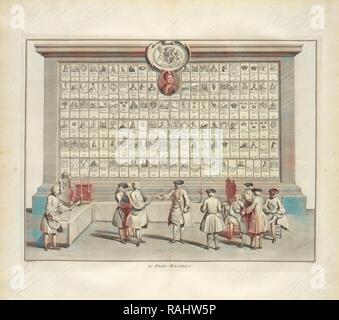 Freemasons, Ceremonies et coutumes religieuses de tous les peuples du monde, Dubourg, Louis Fabricius, 1693-1775 reimagined - Stock Photo