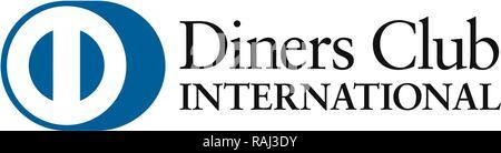 Logo, Diners Club International, Credit cards company, Germany - Stock Photo