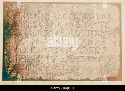 Warning gentiles against intrusion into temple 1900, Middle East, Israel and/or Palestine. Reimagined - Stock Photo