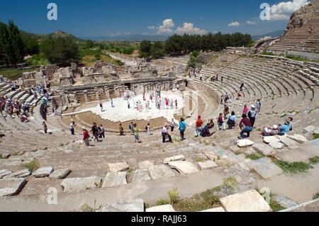 Roman theater, Antique city of Ephesus, Efes, Turkey, Western Asia - Stock Photo