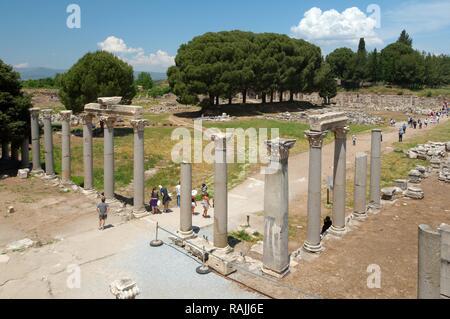 Antique city of Ephesus, Efes, Turkey, Western Asia - Stock Photo