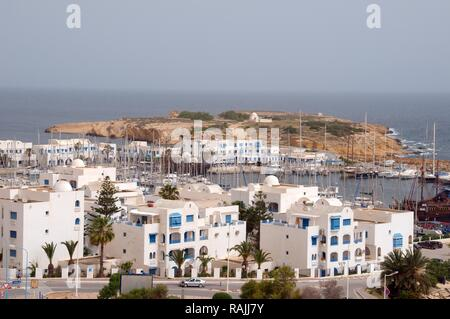 Overlooking Sousse, Tunisia, Africa - Stock Photo
