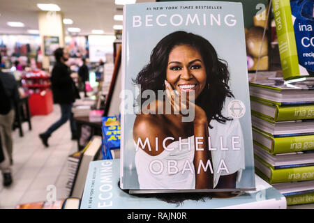 Barnes & Noble Booksellers on Fifth Avenue, NYC, USA - Stock Photo