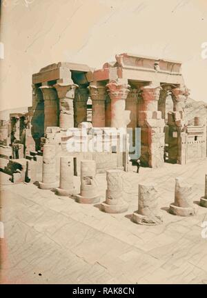Egyptian views Kom-Ombo. Temple of Sobk and Horoeris 1900, Egypt. Reimagined by Gibon. Classic art with a modern reimagined - Stock Photo