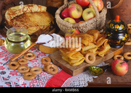 Still life with pancakes - Stock Photo