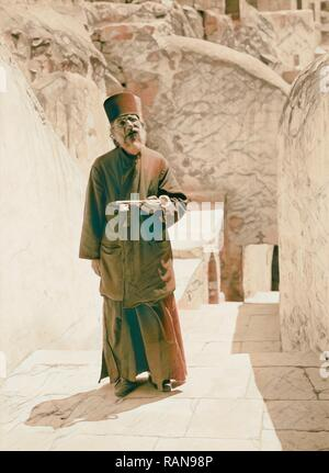 Mar Saba. Porter monk. 1934, West Bank. Reimagined by Gibon. Classic art with a modern twist reimagined - Stock Photo